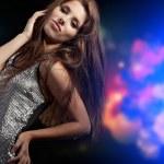 Beautiful dancing girl — Stock Photo #8568896