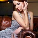 Elegant fashionable woman — Stock Photo #8586564