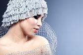 Portrait of a winter woman — Stock Photo