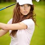 jogador de golfe — Foto Stock