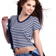 Stock Photo: Woman and Sailor fashion style