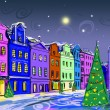 Drawn to the winter old town — Stock Photo #8937933