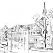 Old town - illustration sketch — Stock Photo #8937940