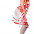 Pin-up girl. American style - 图库照片