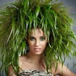 Ecology woman, green concept — Stock Photo #9139174