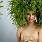 Ecology woman, green concept — Stock Photo #9139434