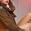 Attractive and sexy army girl — Stock Photo #9139722