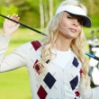 Stock Photo: Womans golf