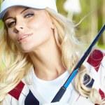 Womans golf — Stock Photo