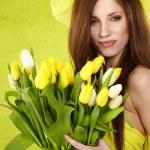 Spring woman — Stock Photo