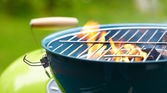 Fire and grill — Stock Photo