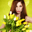 Stock Photo: Spring woman