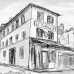 calle París - ilustración — Foto de Stock
