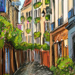 Paris street - illustration — Stock Photo #9815600