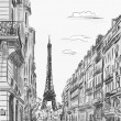 Paris street - illustration — Stock Photo #9815645