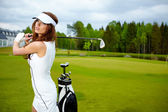 Dames golf — Stockfoto