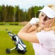 Woman golf — Stock Photo #9824261
