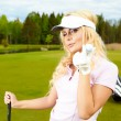 Woman golf — Stock Photo