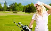 Kvinnans golf — Stockfoto