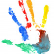 Stock Photo: Close up of colored hand print