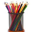 Stock Photo: Colorful pencils in holder