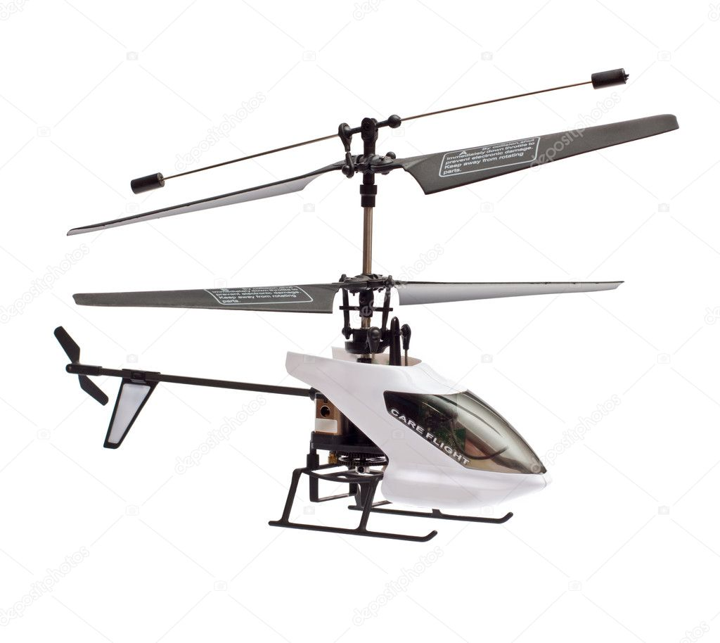 Model of radio-controlled helicopter isolated on a white background  Stock Photo #8929466