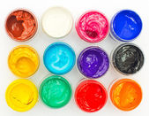 Open banks of a paint — Stock Photo