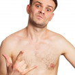 Portrait of a naked young man — Stock Photo