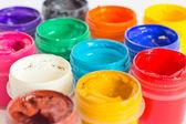 Watercolors closeup — Stock Photo