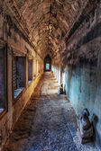 Ancient corridor at Angkor Wat — Stock Photo