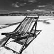 Sun beach chair at the beach — Stock Photo