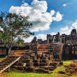 Ancient buddhist khmer temple in Angkor Wat complex — 图库照片