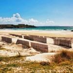 bellissima vista sulla spiaggia e sull'oceano — Foto Stock