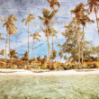 Exotic tropical beach in retro style — Stock Photo #10694416