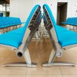 Abstract airport seats — Stock Photo