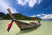 Boat in the tropical sea. — Stock Photo