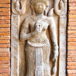 Traditional Thai a bas-relief of wall. — Stock Photo