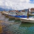 Boats near the pier — Stock Photo