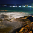Tropical night at the beach. — Stock Photo