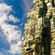 Smiling face of Bayon. Angkor. — Stock Photo