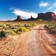 Stock Photo: End of sunny day in Monument Valley