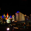 Stock Photo: Excalibur Hotel & Casino is shown in this image taken at night