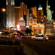 New York, New York Hotel & Casino at night — Stock fotografie