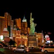 New York, New York Hotel & Casino at night — Stock Photo