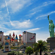 The Excalibur Hotel & Casino is shown in this image taken at day - Stock Photo