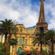 View of replica of the Eiffel Tower and classic French architect — Stock Photo #8304463