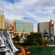 Stock Photo: Waterfall of Mirage Hotel&Casino on background of famous