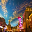 Miracle Mile Shops in the Aladdin hotel stylized as Arab town - Foto Stock