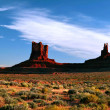 Stock Photo: Sunny evening in Monument Valley. Arizona.