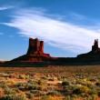 Sunny evening in Monument Valley. Arizona. — Stock Photo